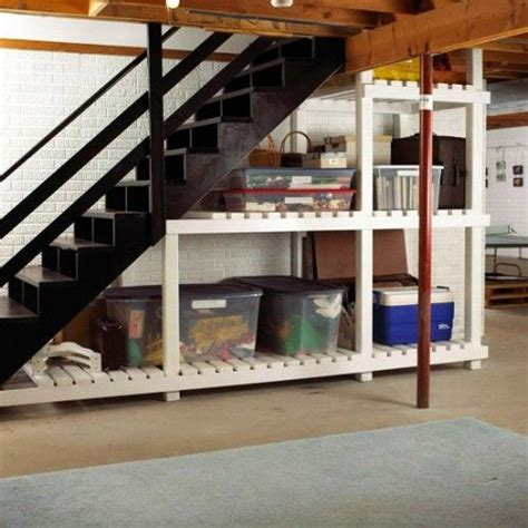 5 basement stairs storage ideas organizing our