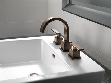how to install a bathroom faucet with pop up drain faucet 3553lf cz in chagne bronze by delta