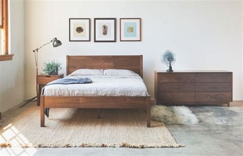 solid walnut bedroom furniture made solid walnut bed frame and headboard by