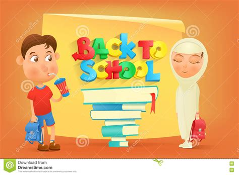 back to school card template back to school card template stock illustration image