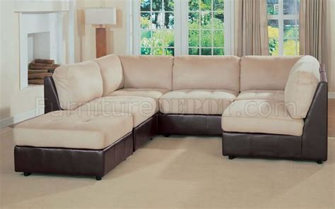 two tone leather sectional sofa leather and microfiber two tone sectional sofa