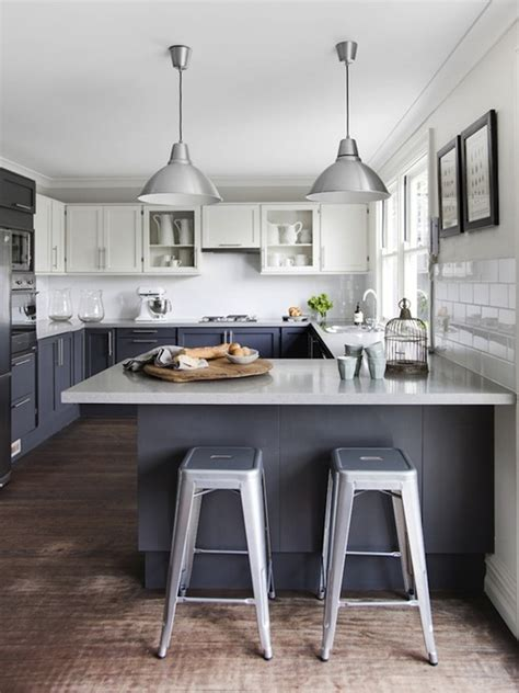 gray and white kitchens 2 tone kitchen cabinets design ideas