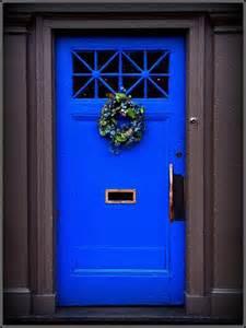 Bright Blue Front Door by 15 Colorful Front Door Ideas Design Sponge