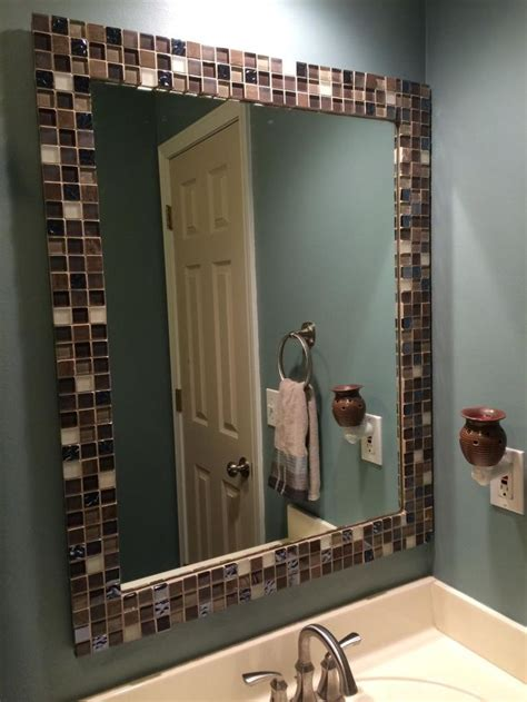 tile bathroom mirror frame best 25 tile mirror frames ideas on