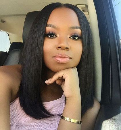 middle part bob hairstyle middle part bob hairstyles human hair wigs for black women