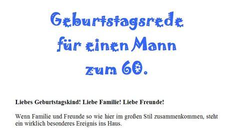 Musterbriefe Zum Geburtstag Rede Zum 60 Geburtstag F 252 R Einen Mann