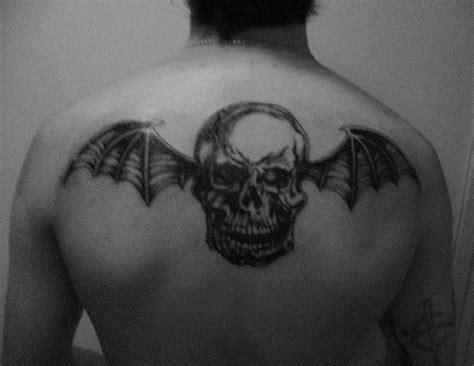 avenged sevenfold tattoos a7x avenged sevenfold black and white deathbat