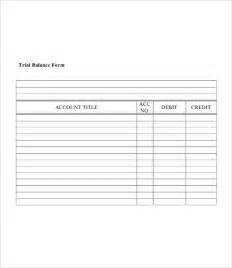 Blank Balance Sheet Template by Trial Balance Sheet Free Premium Templates