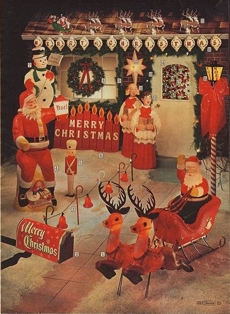 vintage sears christmas decorations photograph 1952 sears