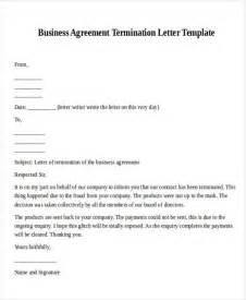 notice of cancellation business letter termination letter format