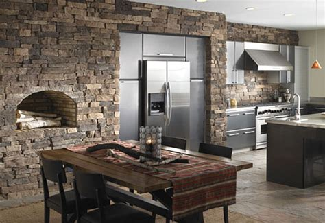 stone kitchen ideas kitchen stone wall decorating ideas plushemisphere