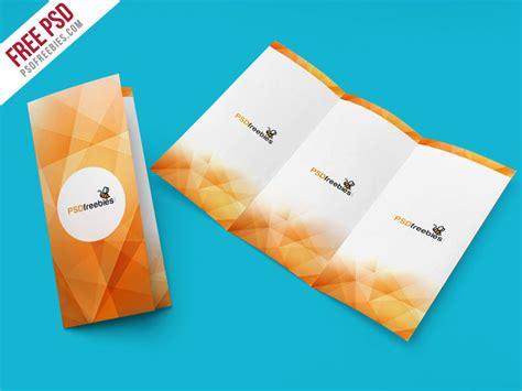 tri fold brochure mockup psd template psdfreebies com