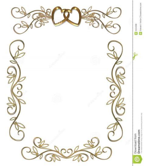 Wedding Invitation Design Border by Wedding Border Designs Free Clipart