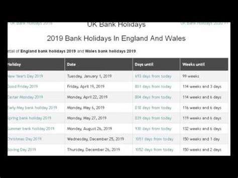 uk bank holidays  anexa vacation