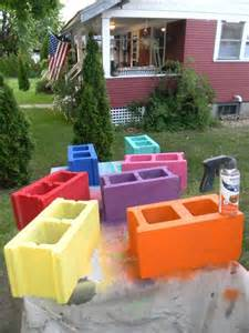 cinder block furniture backyard hometalk cinder block bench