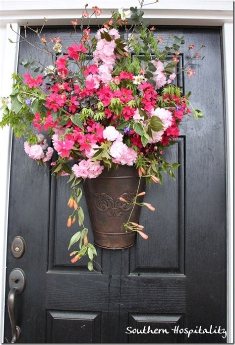 Front Door Flower Arrangements Decor Ideas Front Doors Starfish Cottage