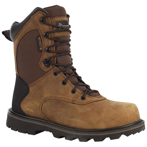 rocky work boots for rocky 174 8 quot steel toe work boots brown 578341 work