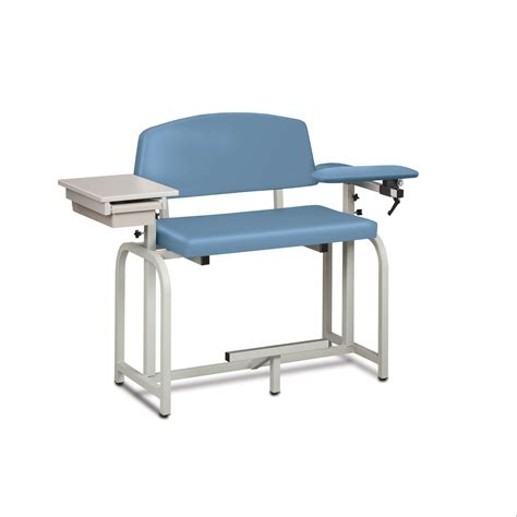 Wide Sofa Chair Vinyl Wide Phlebotomy Chair With Side Cabinet
