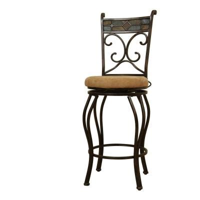 boraam 29 in beau swivel bar stool 80516 the home depot