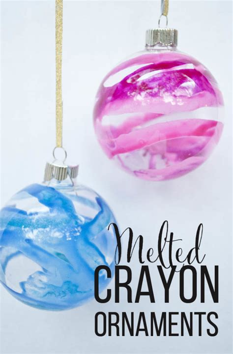 melted crayon christmas ornaments you won t believe how