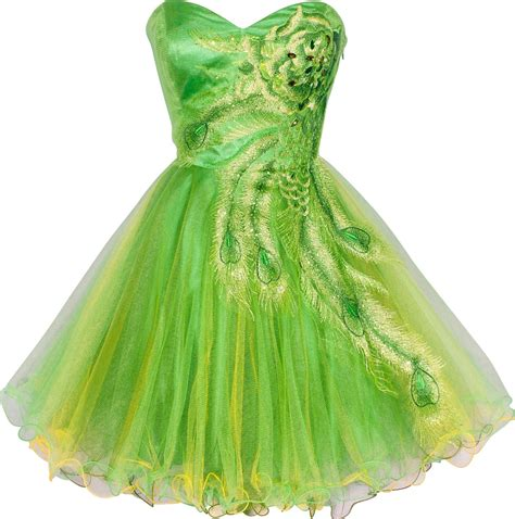 Dress Green peacock prom dresses