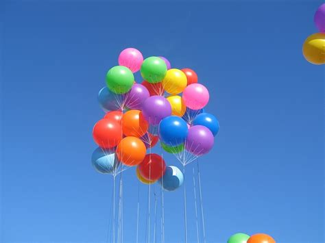 colorful balloons colorful balloons in sky domain free photos for