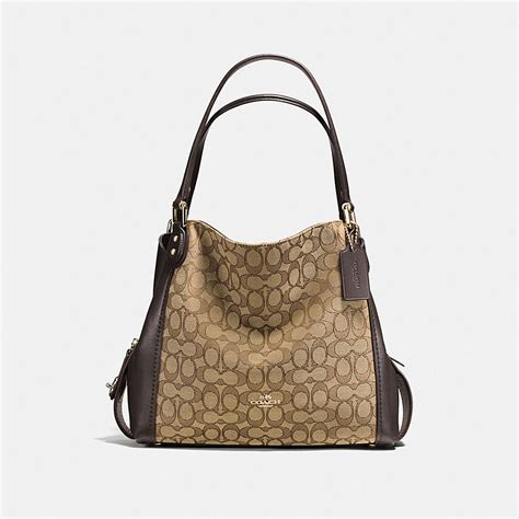Bag By Coach by Coach Edie Shoulder Bag 31 In Signature Jacquard