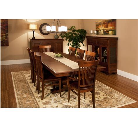 morgan dining room morgan trestle table home envy furnishings solid wood