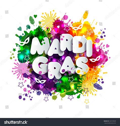 mardi gras colors illustration carnival mardi gras on multicolors stock