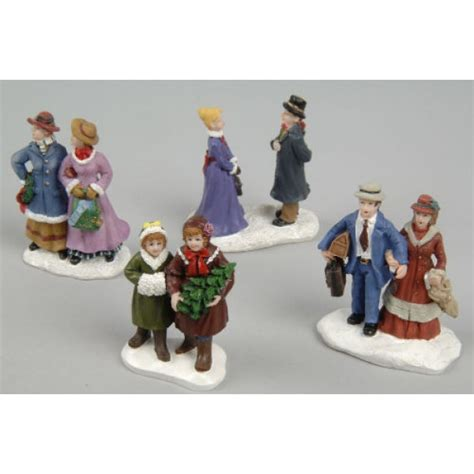 lumineo set of 4 assorted christmas figurines
