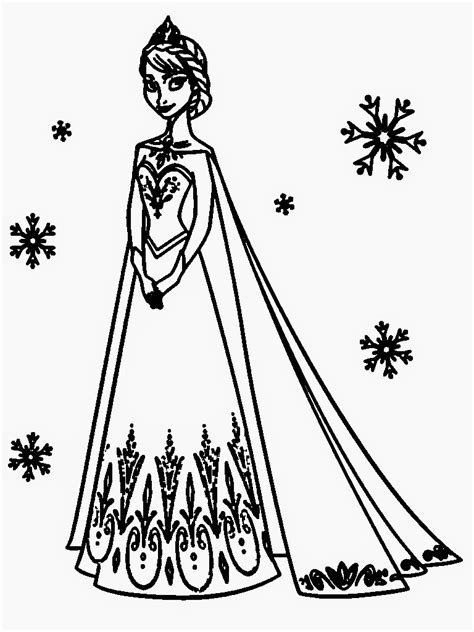 frozen coloring pages for kindergarten printable and elsa coloring pages 05 coloring pages