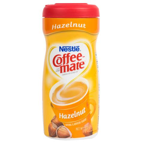 Creamer Coffee nestle coffee mate hazelnut coffee creamer shaker 15 oz