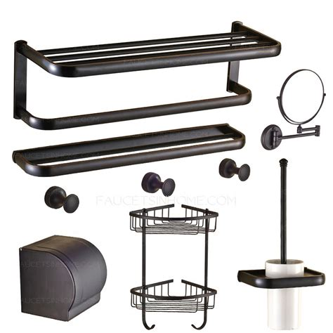 oil rubbed bronze bathroom accessories set american country style 7 piece oil rubbed bronze bathroom