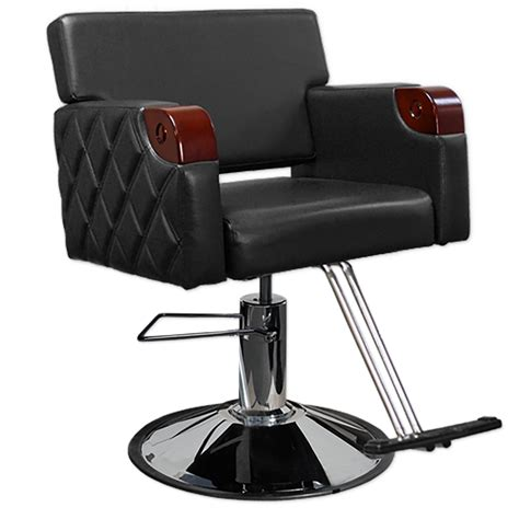 Black Salon Chairs by Quilted Styling Chair In Black Salon Chair