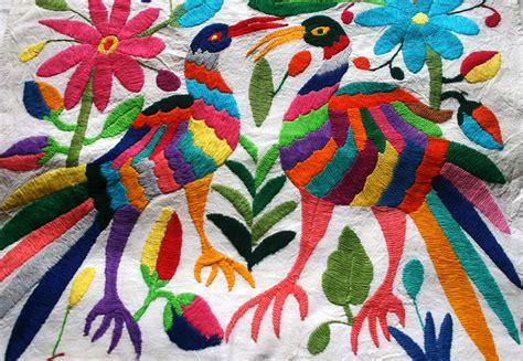 embroidery mexican tenango birds embroidered mexico mexican visuals