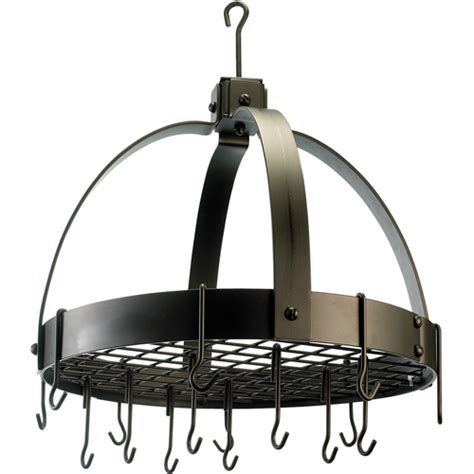 Hanging Pan Racks by Hanging Pot Rack Circle In Hanging Pot Racks