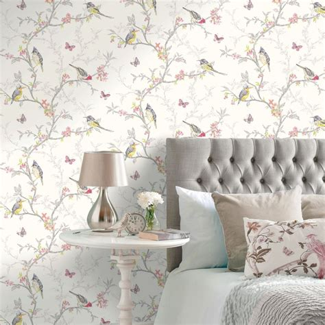 beautiful wallpaper design for home decor papel pintado p 225 jaros en ramas de 225 rbol birdie 564683