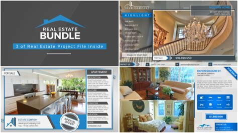 Real Estate Bundle Product Promo After Effects Templates F5 Design Com Real Estate After Effects Template