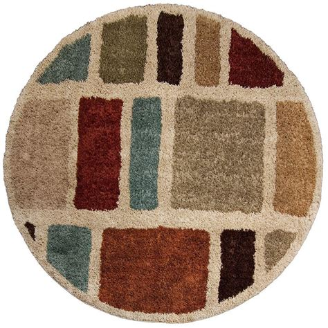 Orian Rugs Moodie Blues Multi 7 Ft 10 In Round Area Rug 7 Ft Rug