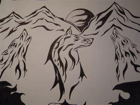 wolf tribal drawings www imgkid the image kid has it