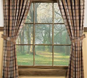Cascade Valance Curtain Country Plaid Curtains For Log Cabin Homes