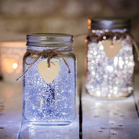 fairy lights in a jar sparkle led jam jar light by thelittleboysroom