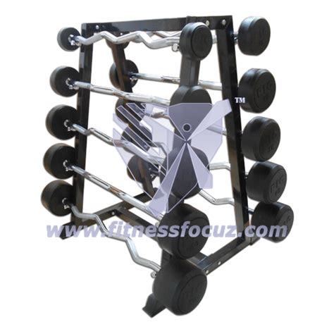Curl Bar Rack by Power Barbell Set With Rack Curl Bars New Equipment