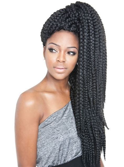 side bun for box braids 72 box braids hairstyles with instructions and images