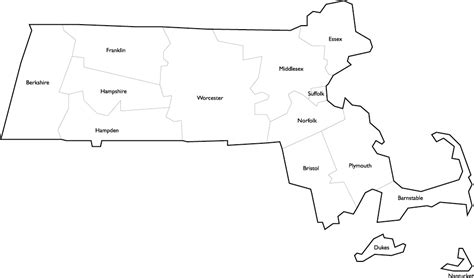 massachusetts county map  names