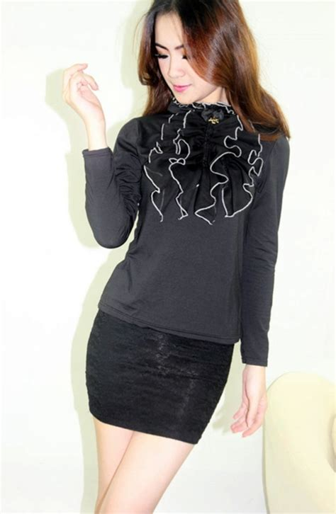 Blouse Import Murah Xy62050black blouse wanita korea murah model terbaru jual