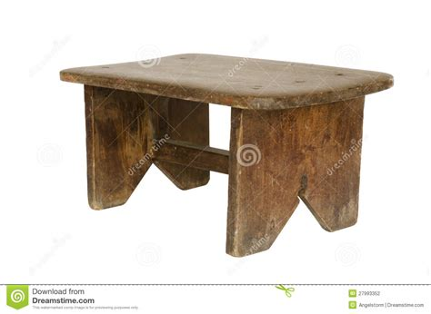 small wooden bench plans small old wooden bench isolated stock photo image 27993352