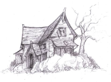 how to draw a haunted house best photos of haunted house sketches scary haunted house drawings haunted house