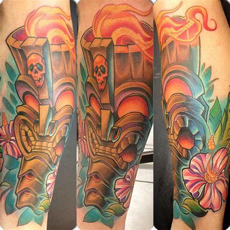 polynesian tiki tattoo designs tonyciavarro tiki tiki hibiscus hawaiian