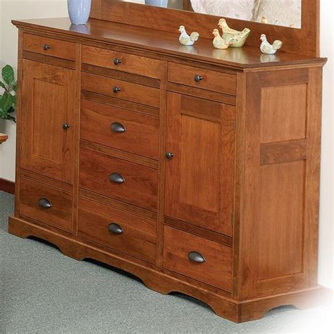 Door Dresser by 9 Drawer 2 Door Dresser